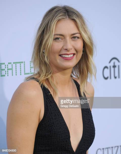 Maria Sharapova arrives at the premiere of Fox Searchlight Pictures' 'Battle Of The Sexes' at Regency Village Theatre on September 16 2017 in...