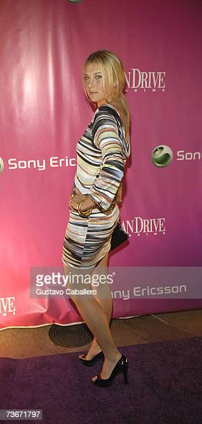 Maria Sharapova arrives at the Sony Ericsson Open Kickoff Party on March 21 2007 in Miami Beach Florida
