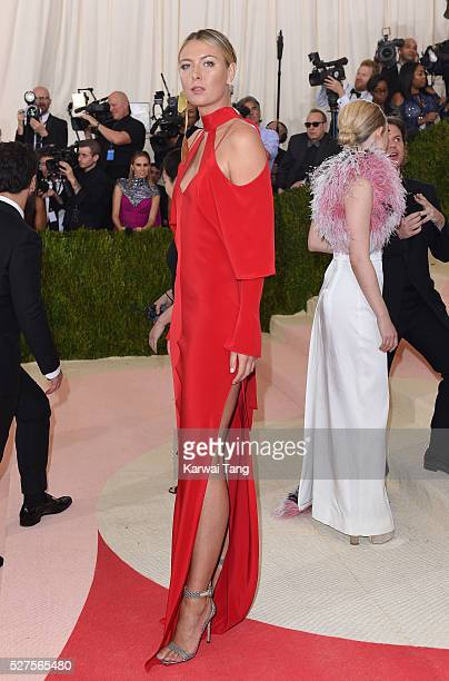 Maria Sharapova arrives for the Manus x Machina Fashion In An Age Of Technology Costume Institute Gala at Metropolitan Museum of Art on May 2 2016 in...