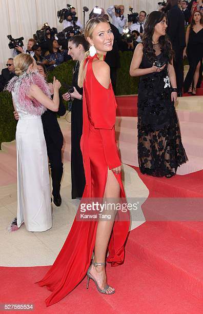Maria Sharapova arrives for the 'Manus x Machina Fashion In An Age Of Technology' Costume Institute Gala at Metropolitan Museum of Art on May 2 2016...