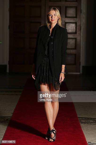 Maria Sharapova arrives for the Summer Nights player party at Brisbane City Hall ahead of the 2016 Brisbane International on January 2 2016 in...