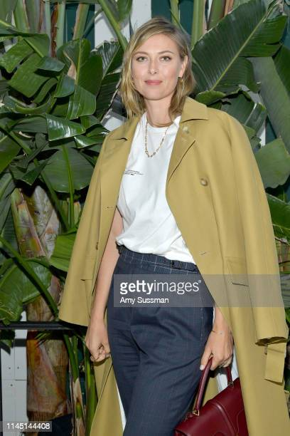 Maria Sharapova attends an intimate dinner in celebration of BoF West 2019 at San Vincente Bungalows on April 25 2019 in Los Angeles California
