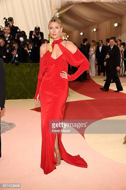 Maria Sharapova attends 'Manus x Machina Fashion In An Age Of Technology' Costume Institute Gala at Metropolitan Museum of Art on May 2 2016 in New...