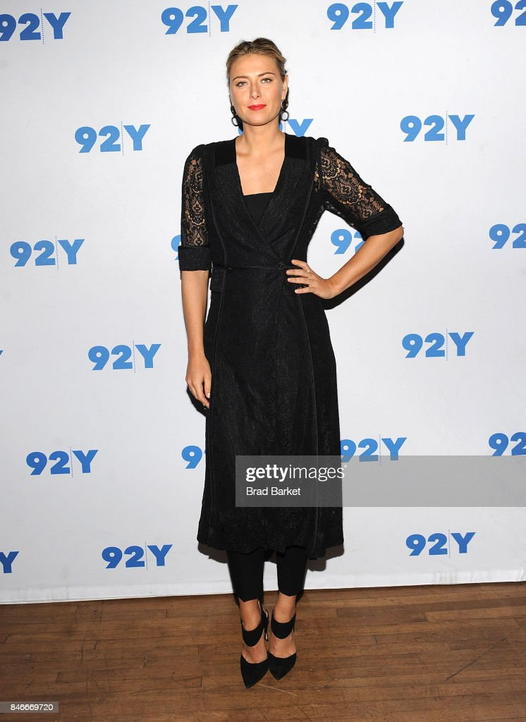 Maria Sharapova attends Maria Sharapova in conversation with Katie Couric at 92nd Street Y on September 13, 2017 in New York City.