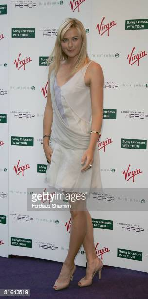 Maria Sharapova attends Sir Richard Branson's PreWimbledon Party at The Roof Gardens on June 19 2008 in London England