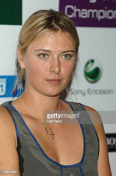 Maria Sharapova attends Sony Ericsson Championships Press Conference at the Westin Palace Hotel on November 4 2007 in Madrid Spain