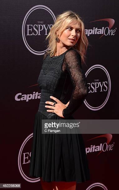 Maria Sharapova attends the 2014 ESPY Awards at Nokia Theatre LA Live on July 16 2014 in Los Angeles California