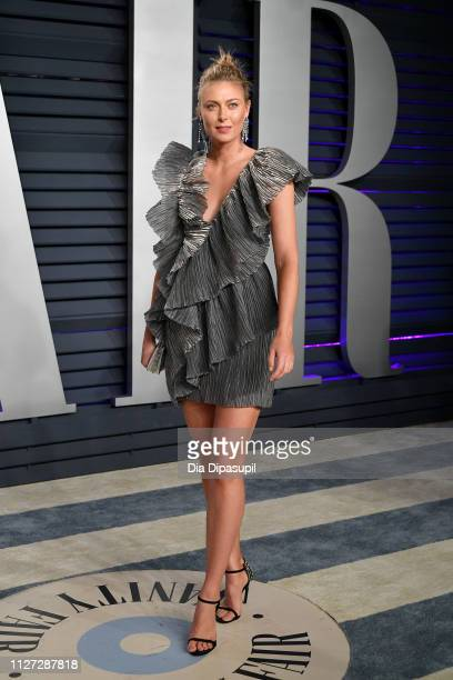 Maria Sharapova attends the 2019 Vanity Fair Oscar Party hosted by Radhika Jones at Wallis Annenberg Center for the Performing Arts on February 24...
