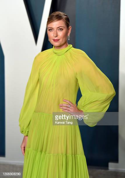 Maria Sharapova attends the 2020 Vanity Fair Oscar Party hosted by Radhika Jones at Wallis Annenberg Center for the Performing Arts on February 09...
