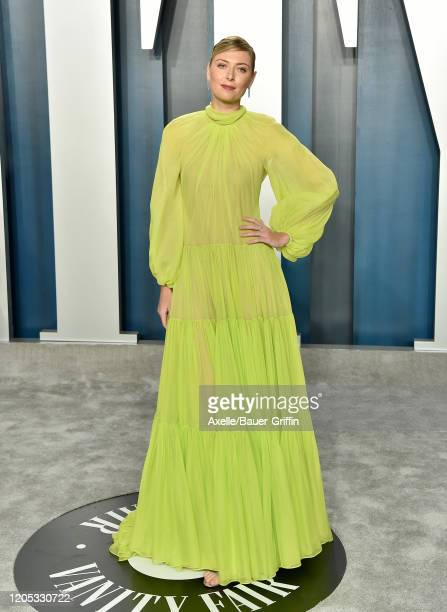 Maria Sharapova attends the 2020 Vanity Fair Oscar Party hosted by Radhika Jones at Wallis Annenberg Center for the Performing Arts on February 09,...