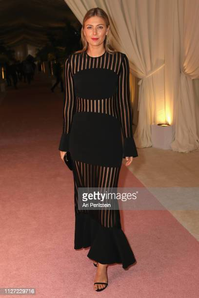 Maria Sharapova attends the 27th annual Elton John AIDS Foundation Academy Awards Viewing Party celebrating EJAF and the 91st Academy Awards with...
