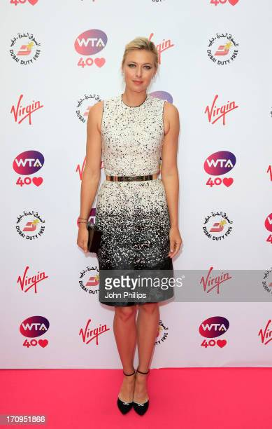 Maria Sharapova attends the annual WTA preWimbledon party at Kensington Roof Gardens on June 20 2013 in London England