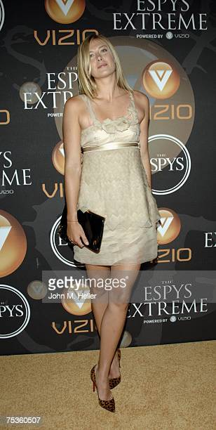 Maria Sharapova attends The ESPY's Extreme Powered By Vizio and hosted by San Diego Chargers Ladainian Tomlinson at the Hollywood Roosevelt Hotel on...