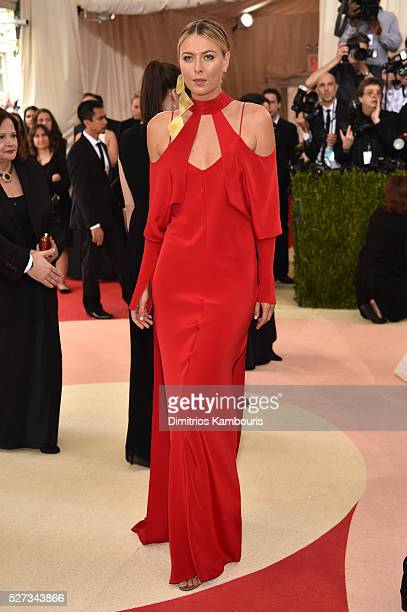Maria Sharapova attends the 'Manus x Machina Fashion In An Age Of Technology' Costume Institute Gala at Metropolitan Museum of Art on May 2 2016 in...
