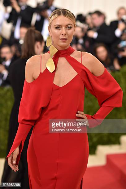 Maria Sharapova attends the Manus x Machina Fashion In An Age Of Technology Costume Institute Gala at Metropolitan Museum of Art on May 2 2016 in New...