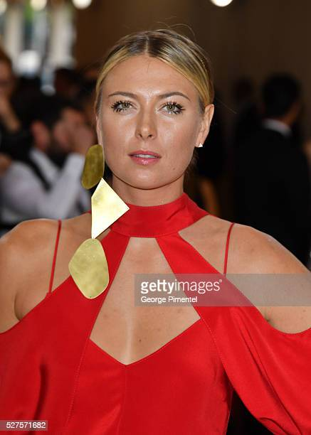 Maria Sharapova attends the 'Manus x Machina Fashion in an Age of Technology' Costume Institute Gala at the Metropolitan Museum of Art on May 2 2016...