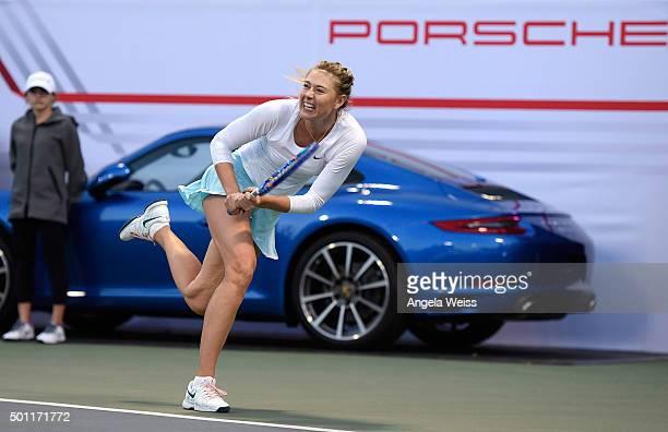 Maria Sharapova attends the Maria Sharapova and Friends event presented By Porsche on December 12 2015 in Los Angeles California