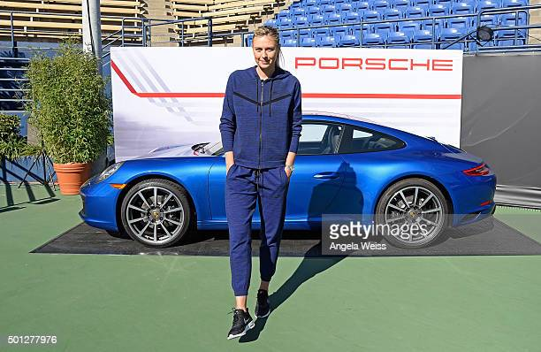Maria Sharapova attends the Maria Sharapova and Friends tennis event presented by Porsche on December 13 2015 in Los Angeles California