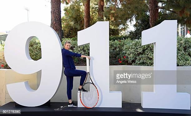 Maria Sharapova attends the Maria Sharapova and Friends tennis event presented by Porsche on December 13 2015 in Los Angeles California
