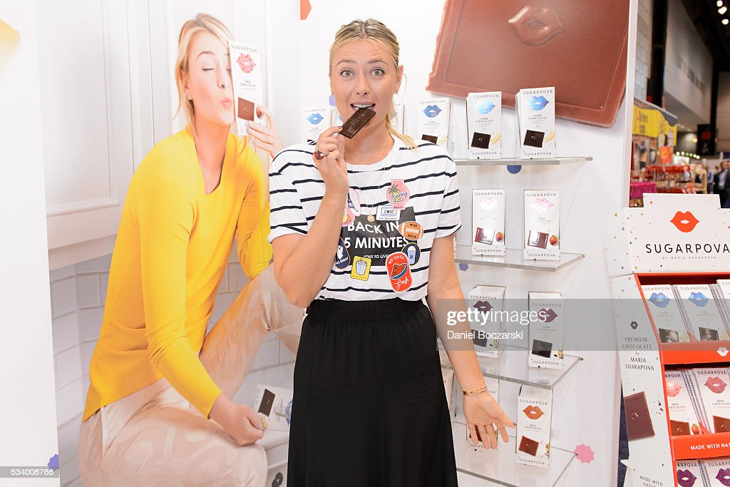 Maria Sharapova Sugarpova Chocolate Launch At The Chicago Sweets & Snacks Expo : News Photo