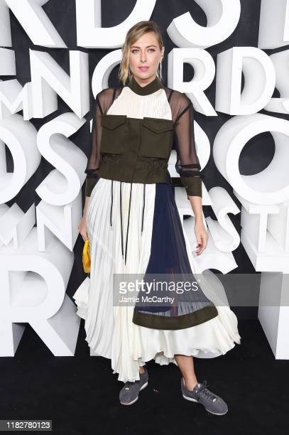 Maria Sharapova attends the Nordstrom NYC Flagship Opening Party on October 22 2019 in New York City