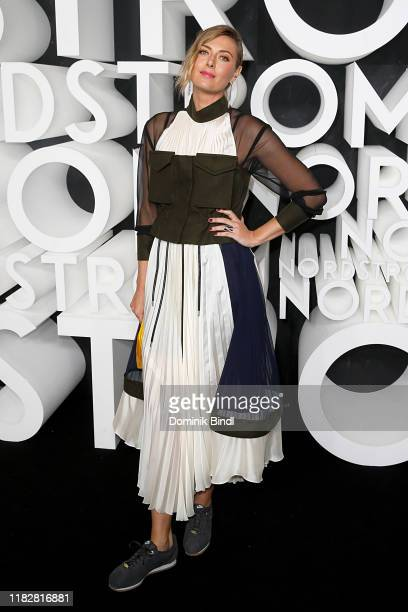 Maria Sharapova attends the Nordstrom NYC Flagship Opening Party on on October 22, 2019 in New York City.