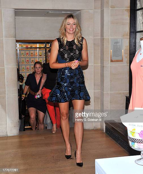 Maria Sharapova attends the Sugarpova Accessories Collection launch at Henri Bendel on August 20 2013 in New York City