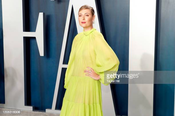 Maria Sharapova attends the Vanity Fair Oscar Party at Wallis Annenberg Center for the Performing Arts on February 09 2020 in Beverly Hills California