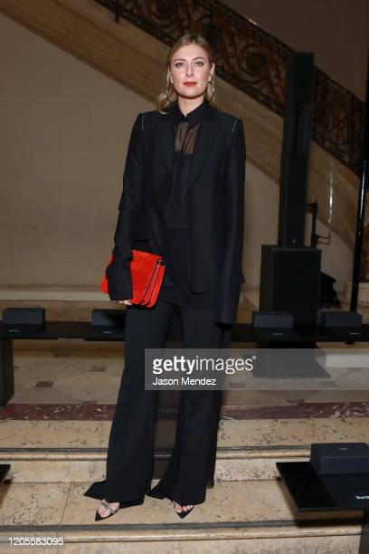 Maria Sharapova attends the Vera Wang fashion show during February 2020 New York Fashion Week on February 11 2020 in New York City