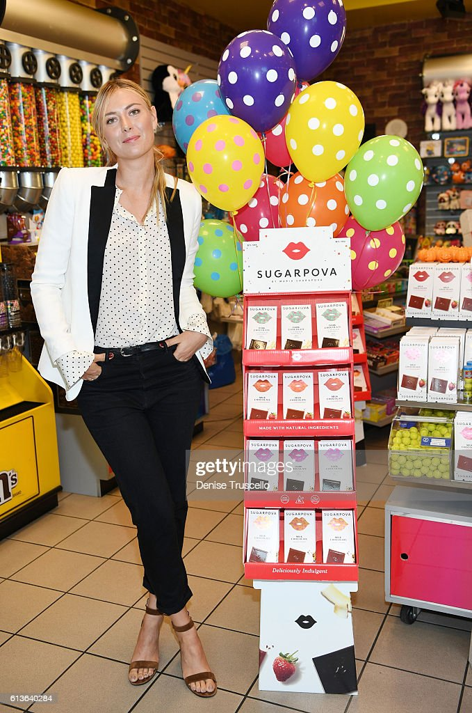 Maria Sharapova celebrates Sugarpova In Las Vegas at the Sweet Factory on October 9, 2016 in Henderson, Nevada.