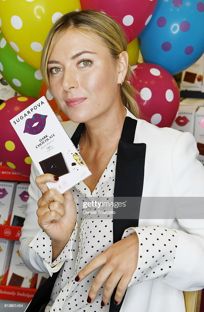 Maria Sharapova celebrates Sugarpova In Las Vegas At The Sweet Factoryat Sweet Factory on October 9, 2016 in Henderson, Nevada.