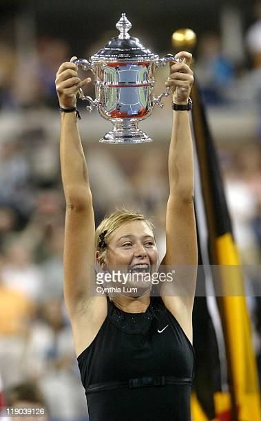 Maria Sharapova defeated Justine HeninHardinne to capture the 2006 US Open Women's title at the USTA Billie Jean King National Tennis Center in...