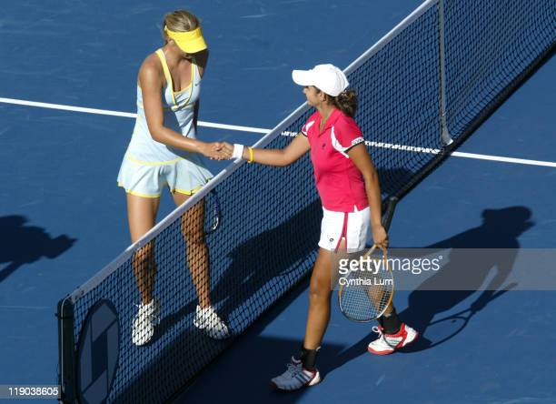 Maria Sharapova defeats Sania Mirza 62 61 in the fourth round of the US Open at the National Tennis Center Flushing Meadow NY