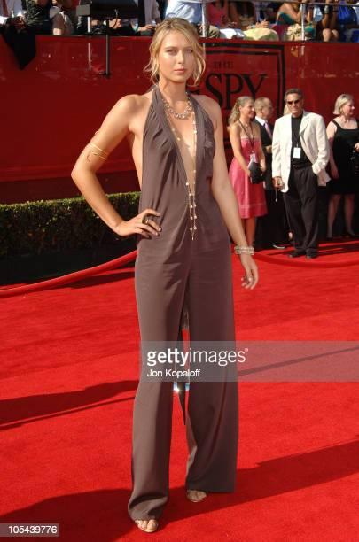 Maria Sharapova during 2005 ESPY Awards Arrivals at Kodak Theatre in Hollywood California United States