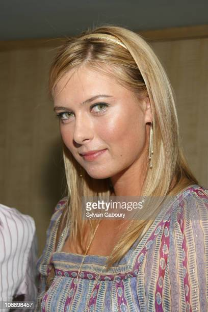 Maria Sharapova during 7th Annual Dacor Taste of Tennis Charity Event at the W Hotel in New York City August 24 2006 at W Hotel in New York City New...