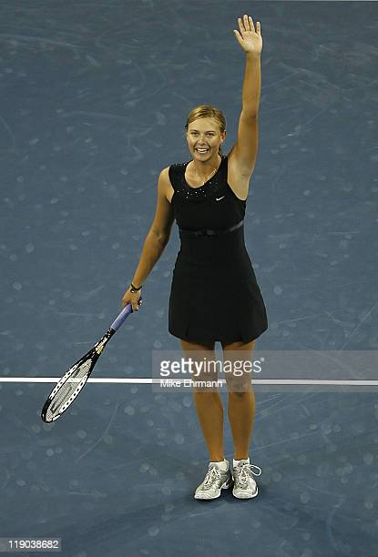 Maria Sharapova during a first round match against Michaella Krajicek at the 2006 US Open at the USTA National Tennis Center in Flushing Queens NY on...