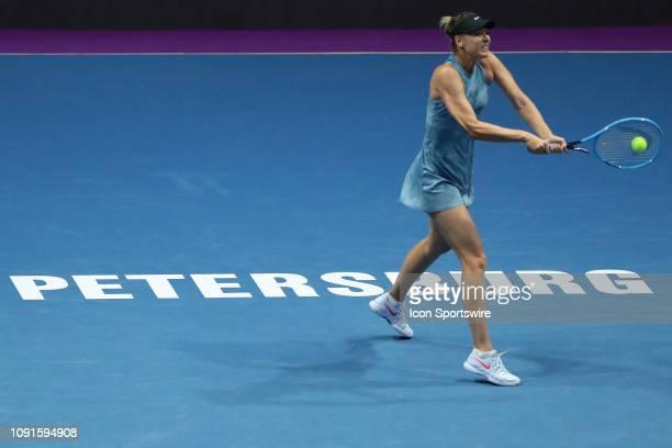 Maria Sharapova during International Tennis Tournament St.Petersburg Ladies Trophy 2019 28 Jan. 2019, Sibur Arena, Saint Petersburg, Russia