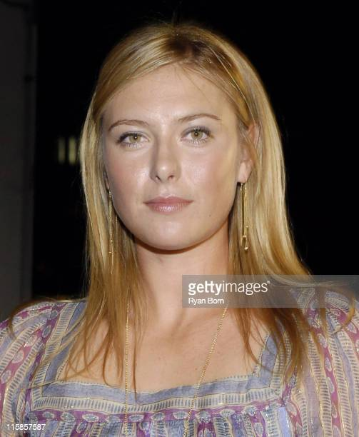 Maria Sharapova during Jed Weinstein Presents and Epic Sports Celebrate the New Face of Land Rover with Maria Sharapova and Serena Williams at...