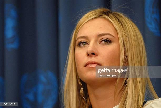 Maria Sharapova during Maria Sharapova Appointed UNDP Goodwill Ambassador February 14 2007 at The United Nations in New York City New York United...