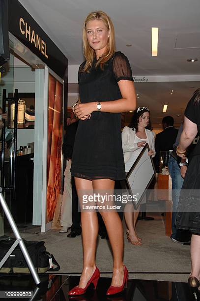 Maria Sharapova during Maria Sharapova Launches Her New TAG Heuer AQUARACER Watch August 22 2006 at Bloomingdale's in New York City New York United...