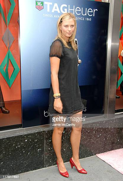 Maria Sharapova during Maria Sharapova Launches Her New TAG Heuer AQUARACER Watch at Bloomingdale's in New York City New York United States