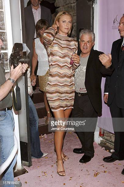 Maria Sharapova during Maria Sharapova Launches New Fragrance August 24 2005 at Angel Orensanz Foundation in New York City New York United States