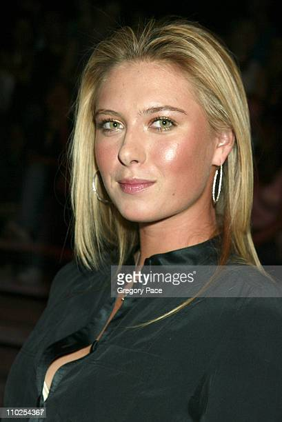 Maria Sharapova during Olympus Fashion Week Spring 2006 Marc Jacobs Front Row and Backstage at NY State Armory in New York City New York United States