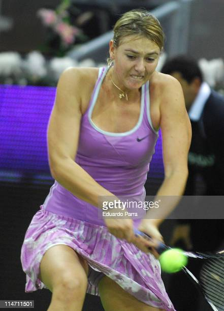 Maria Sharapova during the WTA Championships tennis tournament match in Madrid