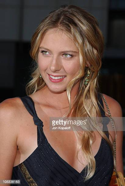 Maria Sharapova during Wimbledon World Premiere Arrivals at Academy of Motion Picture Arts and Science in Beverly Hills California United States
