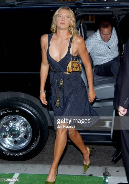 Maria Sharapova during 'Wimbledon' World Premiere Arrivals at Academy of Motion Picture Arts and Science in Beverly Hills California United States