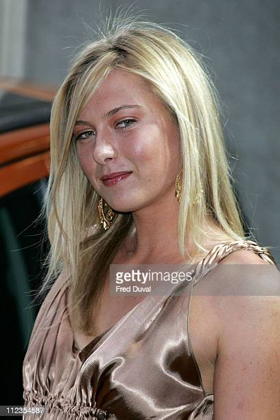 Maria Sharapova during WTA Pre Wimbledon Party Outside Arrivals at Kensington Roof Gardens in London Great Britain