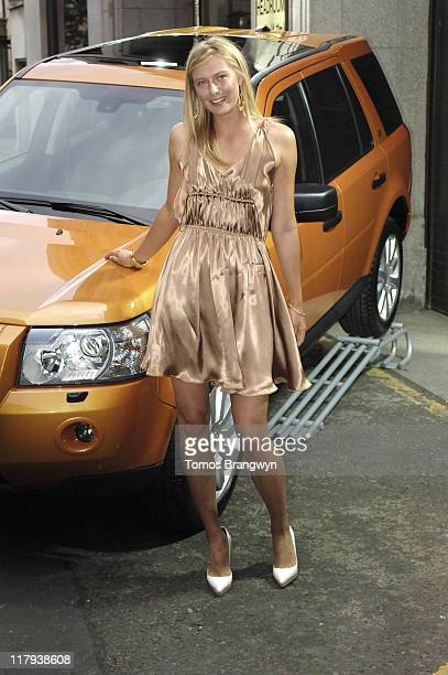 Maria Sharapova during WTA – Pre Wimbledon Party Outside Arrivals at The Roof Gardens in London Great Britain