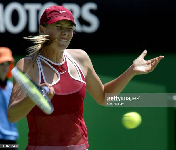 Maria Sharapova ends her run in Australia with a 46 61 26 loss to Anastasia Myskina in their third round match at the Austalian Open January 24 2004