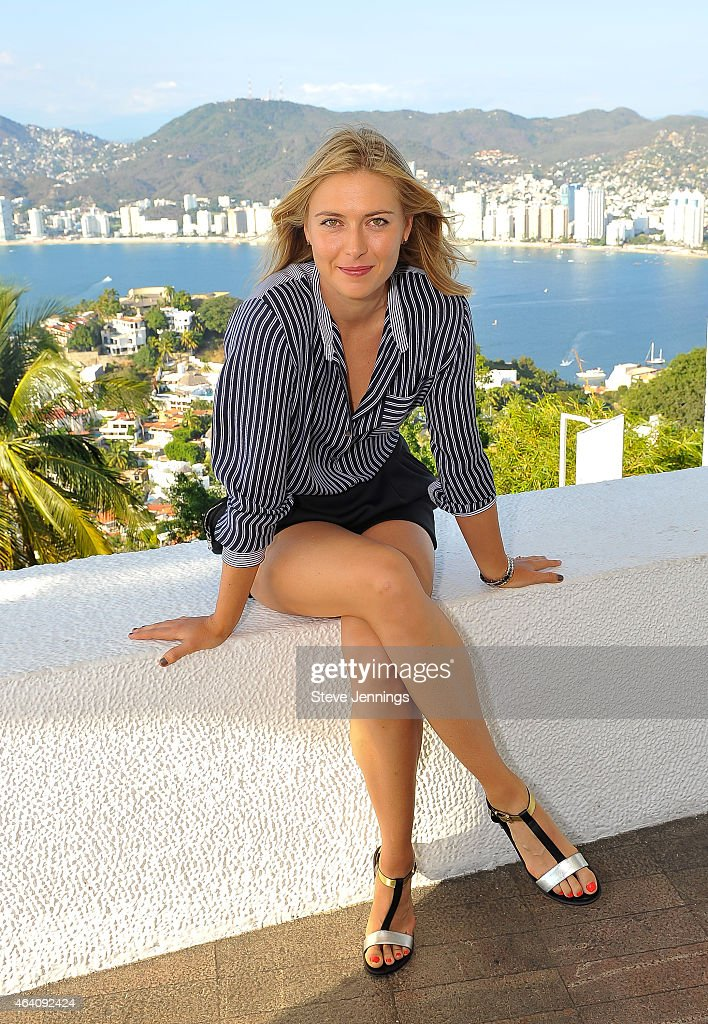 Tennis Star Maria Sharapova Sightseeing  In Acapulco, Mexico